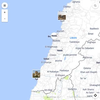 Discovery map - Our selection of must-see places in and around Beirut