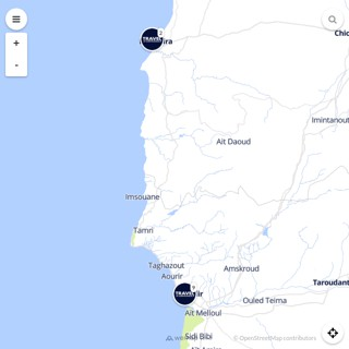 Discovery map - Our selection of must-see places in and around Agadir
