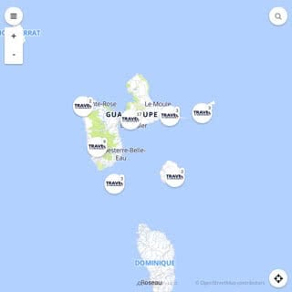 Discovery map - Our selection of must-see places in Guadeloupe