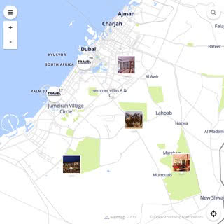 Discovery map - Our selection of must-see places in and around Dubai