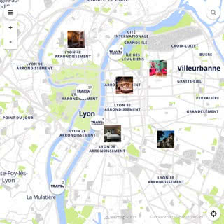Discovery map - Our selection of must-see places in and around Lyon