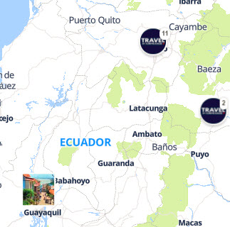 Discovery map - Our selection of must-see places in and around Quito