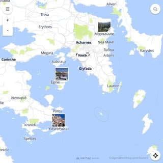 Discovery map - Our selection of must-see places in and around Athens