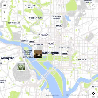 Discovery map - Our selection of must-see places in and around Washington
