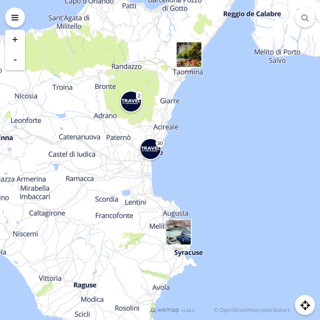 Discovery map - Our selection of must-see places in and around Catania