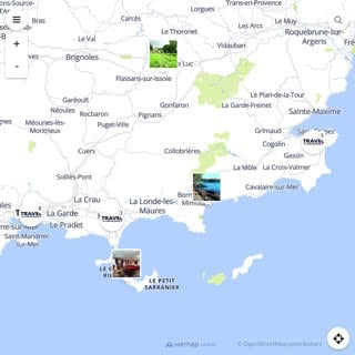 Discovery map - Our selection of must-see places in and around Toulon and Hyères