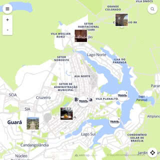 Discovery map - Our selection of must-see places in and around Brasilia