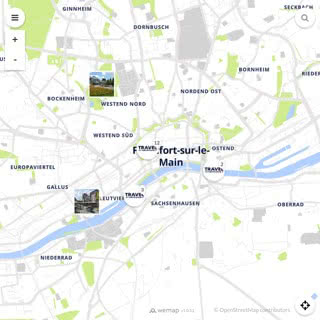 Discovery map - Our selection of must-see places in and around Frankfurt