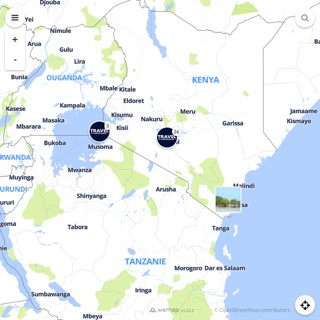 Discovery map - Our selection of must-see places in and around Nairobi