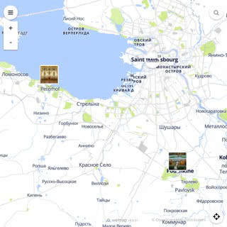 Discovery map - Our selection of must-see places in and around Saint Petersburg