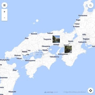 Discovery map - Our selection of must-see places in and around Osaka