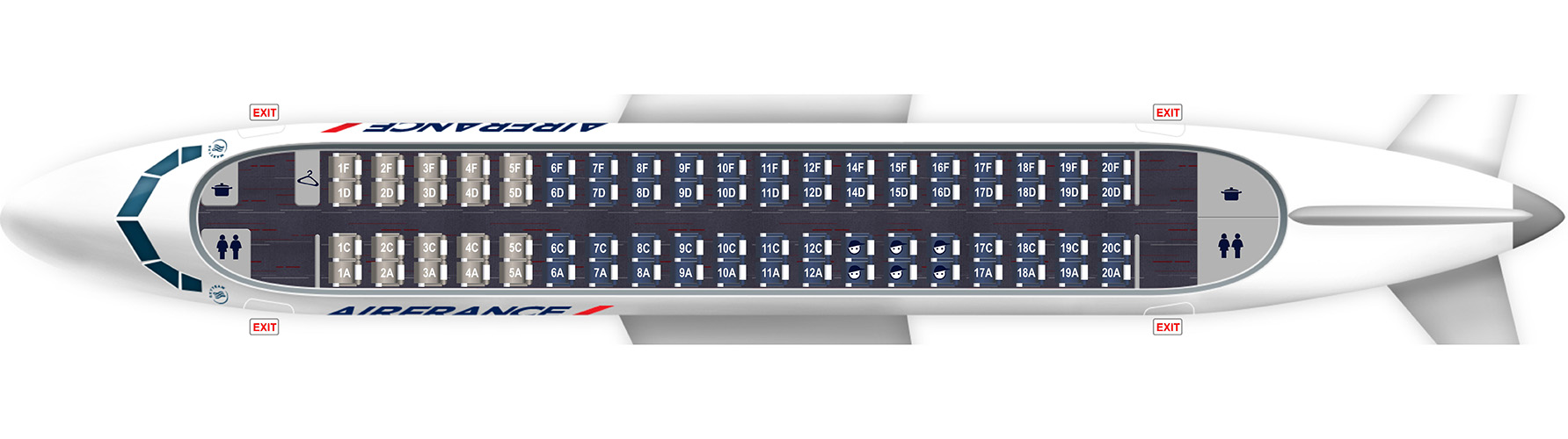 Map 8f France.Embraer 170 Map 76 Seats
