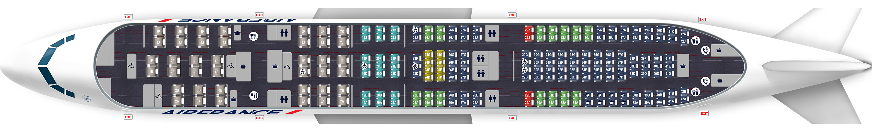 Plan a330 200 208 si ges for Plan de cabine boeing 777 200 air france