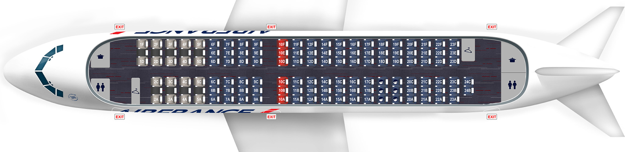 Plan a318 131 si ges for Plan de cabine boeing 777 200 air france